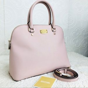 🌸OFFERS?🌸Michael Kors Leather Blush Pink Satchel